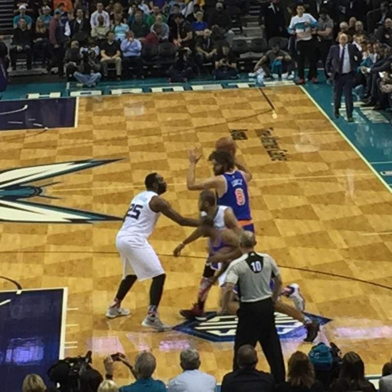 Seating view for Spectrum Center Section 109 Row Q Seat 11