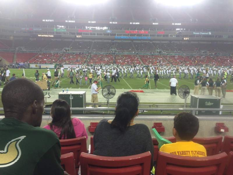 Seating view for Raymond James Stadium Section 109 Row D Seat 19