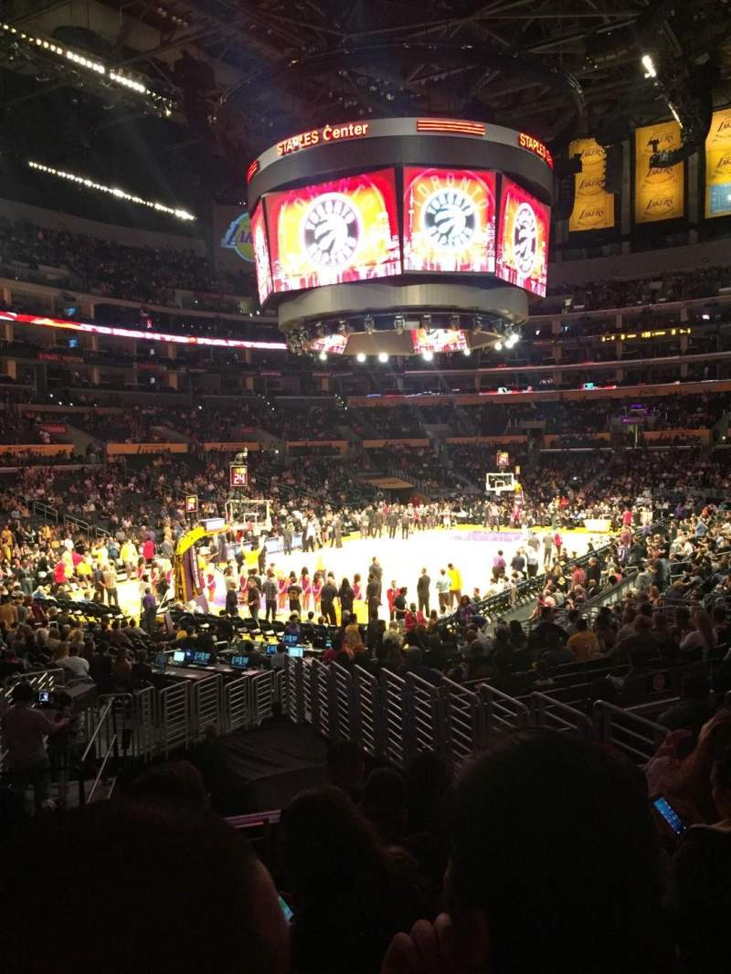 Seating view for Staples Center Section 114 Row 19