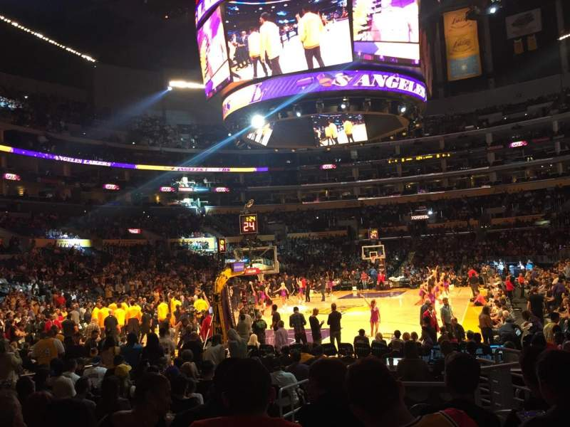 Seating view for Staples Center Section 115 Row 11 Seat 6
