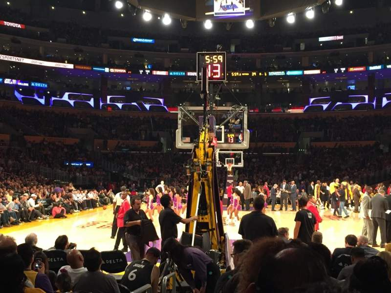 Seating view for Staples Center Section 106 Row K Seat 11