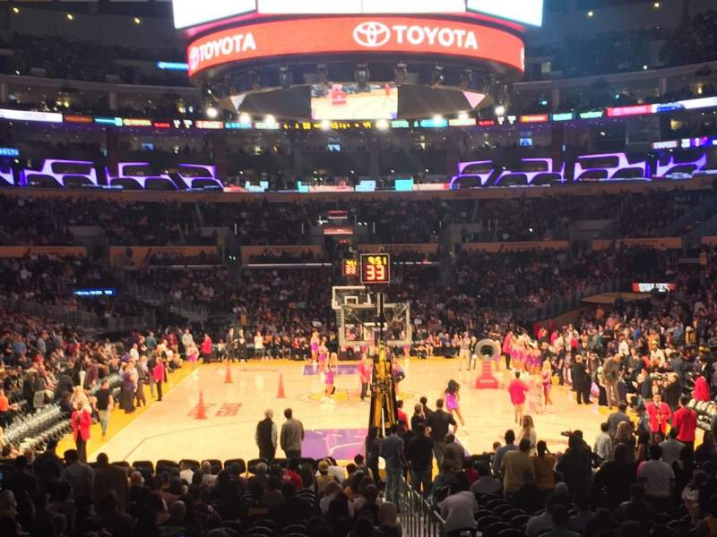Seating view for Staples Center Section 106 Row 16 Seat 2