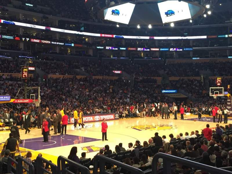Seating view for Staples Center Section 114 Row 10 Seat 10