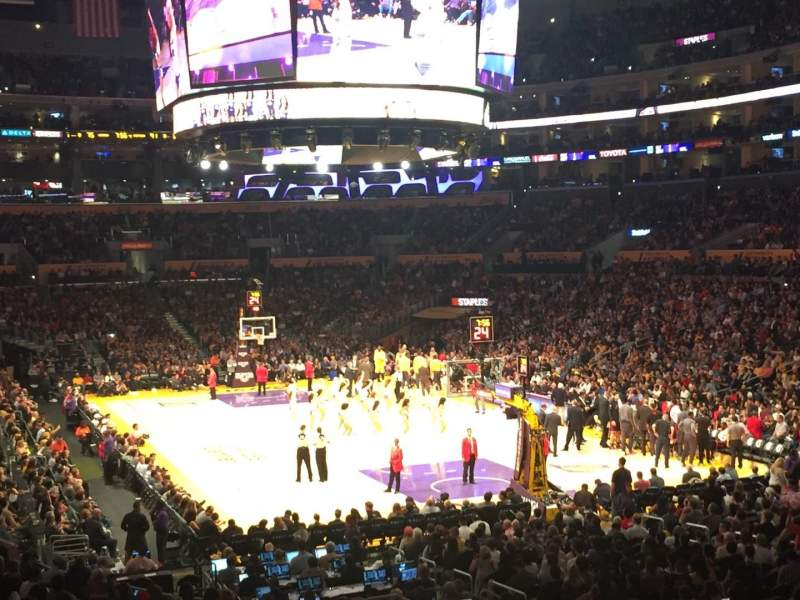 Staples Center, section: 209, row: 2, seat: 6