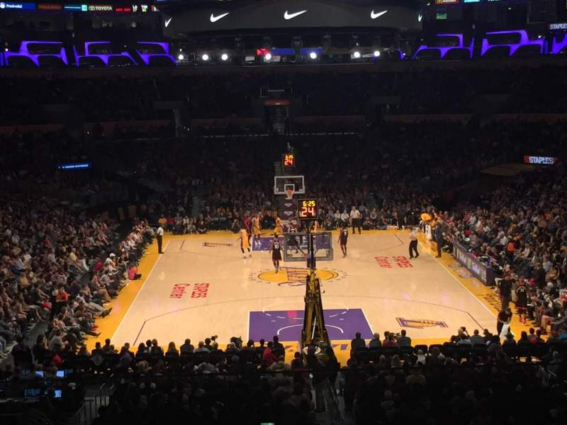 Staples Center, section: 208, row: 8, seat: 1