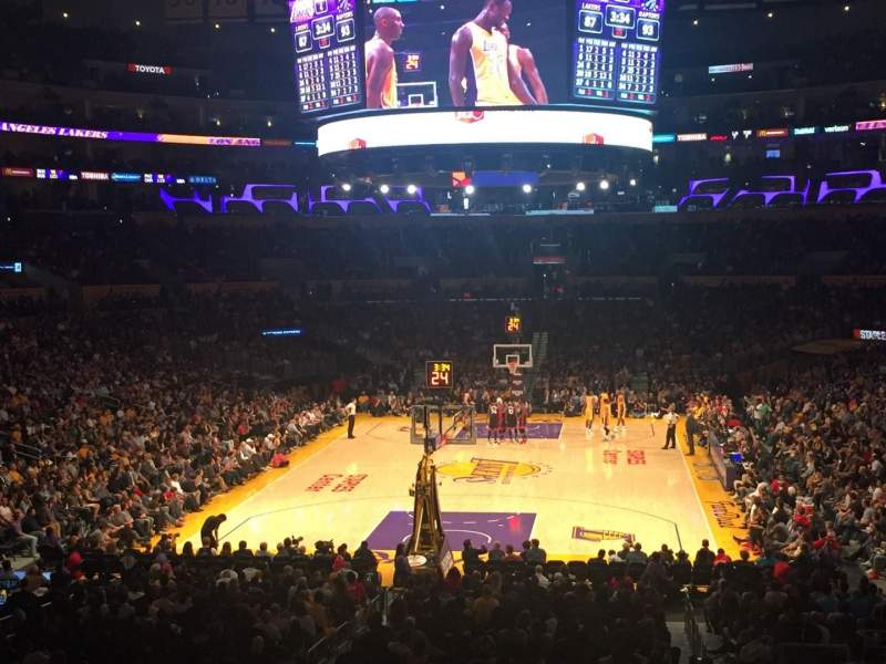 Staples Center, section: 207, row: 4, seat: 7