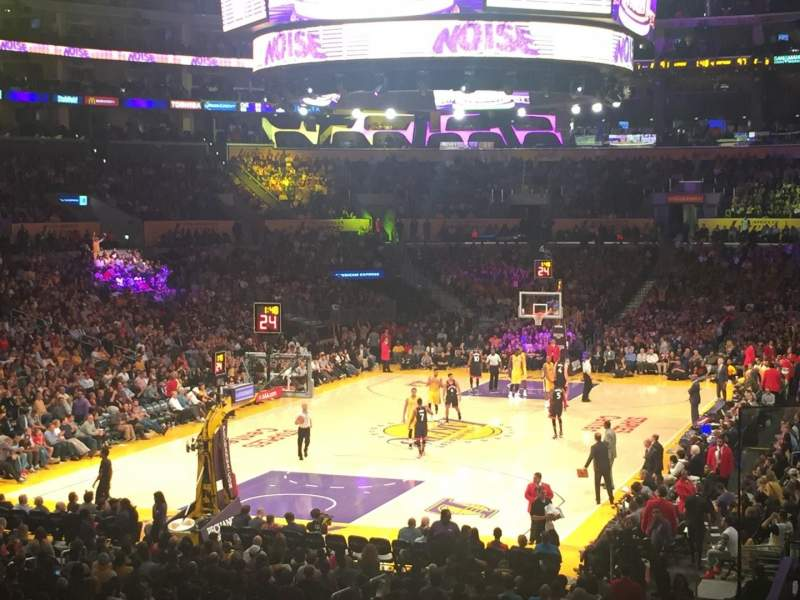 Staples Center, section: 206, row: 3, seat: 3