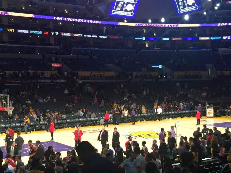 Staples Center, section: 103, row: 15, seat: 6