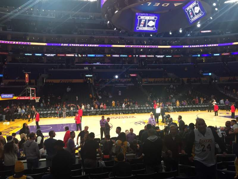 Seating view for Staples Center Section 102 Row 10 Seat 4