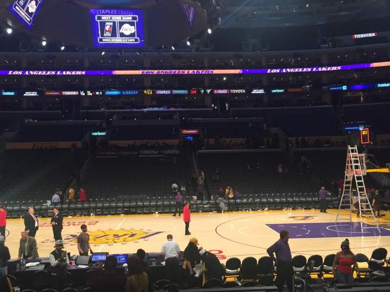 Staples Center, section: 101, row: 11, seat: 5