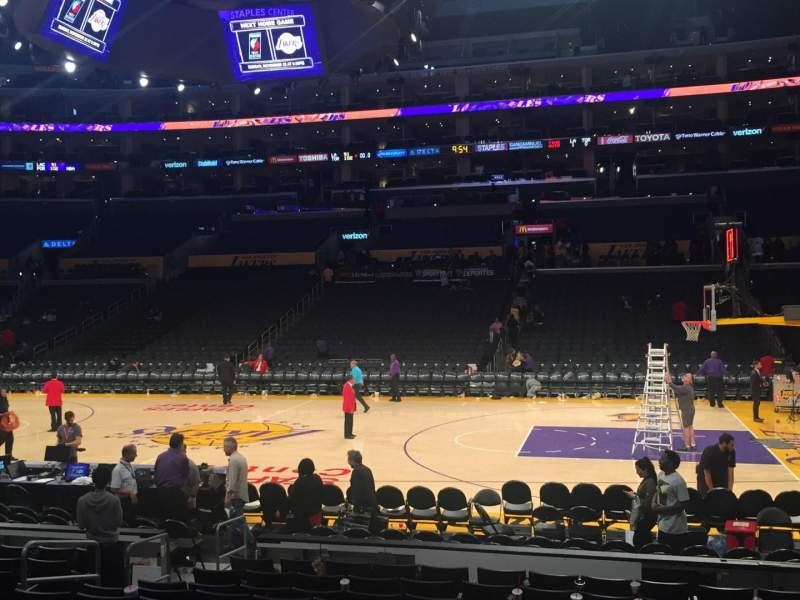Seating view for Staples Center Section 119 Row 12 Seat 8