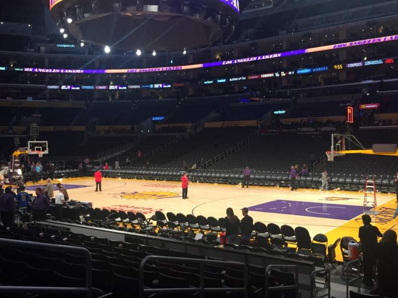 Staples Center, section: 118, row: 11, seat: 8