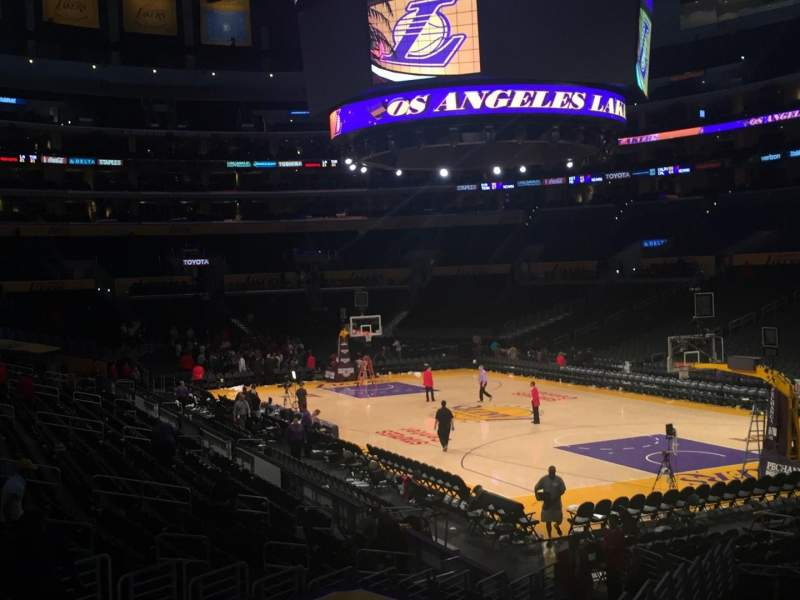 Staples Center, section: 117, row: 20, seat: 8