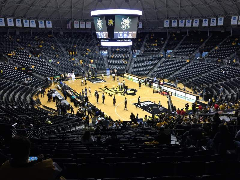 Seating view for Charles Koch Arena Section 118 Row 32 Seat 5