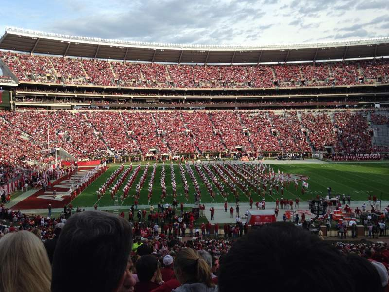 Seating view for Bryant-Denny Stadium Section J Row 54 Seat 17