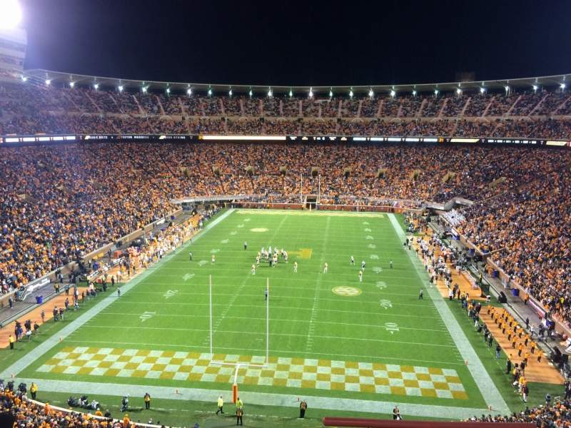 Seating view for Neyland Stadium Section KK Row 3 Seat 4