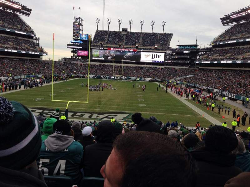 Seating view for Lincoln Financial Field Section 111 Row 32 Seat 10