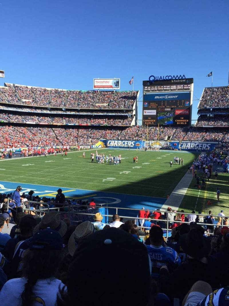 Seating view for Qualcomm Stadium Section P24 Row 9 Seat 7-10