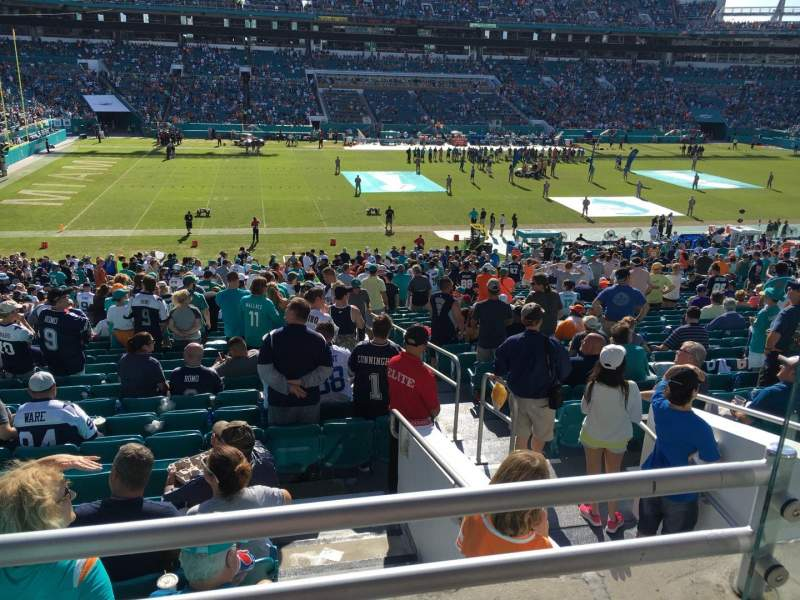 Seating view for Hard Rock Stadium Section 221 Row 1 Seat 1