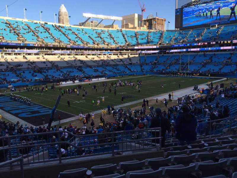 Seating view for Bank of America Stadium Section 350 Row 11 Seat 12