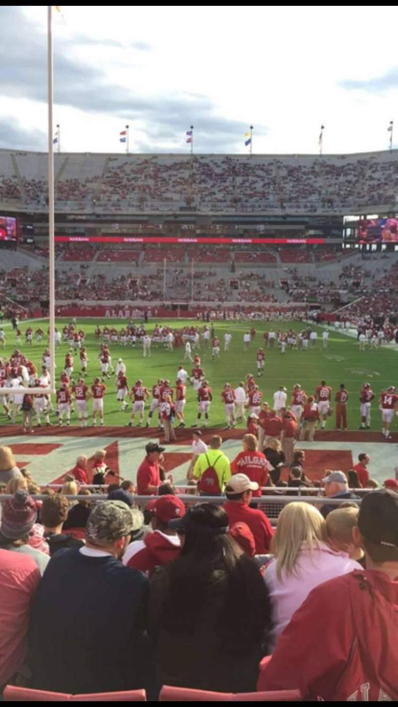 Seating view for Bryant-Denny Stadium Section N-4 Row 18 Seat 13
