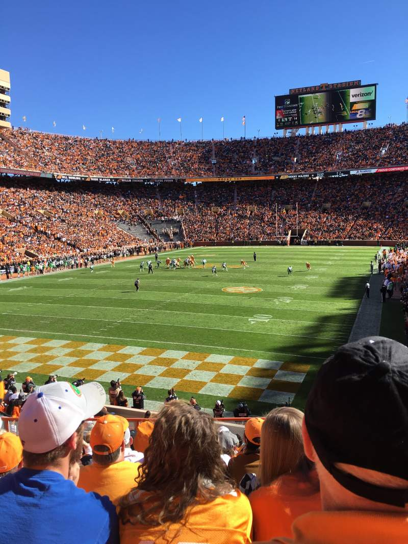 Seating view for Neyland Stadium Section Y6 Row 16 Seat 13