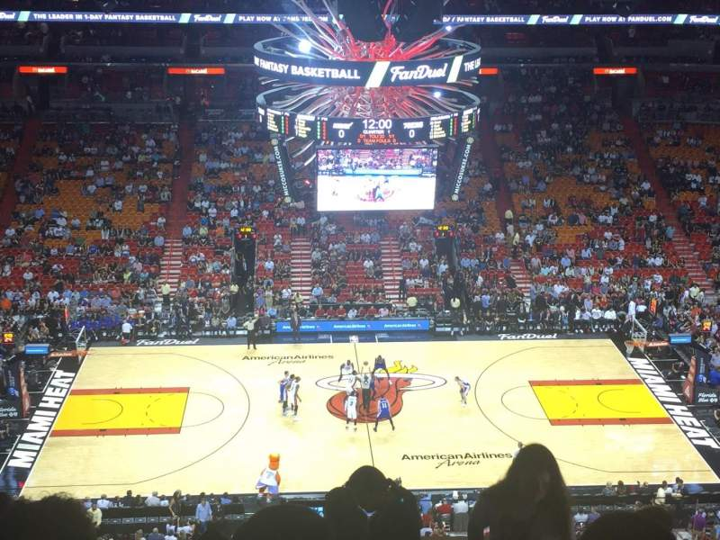 American Airlines Arena, section: 325, row: 11, seat: 6