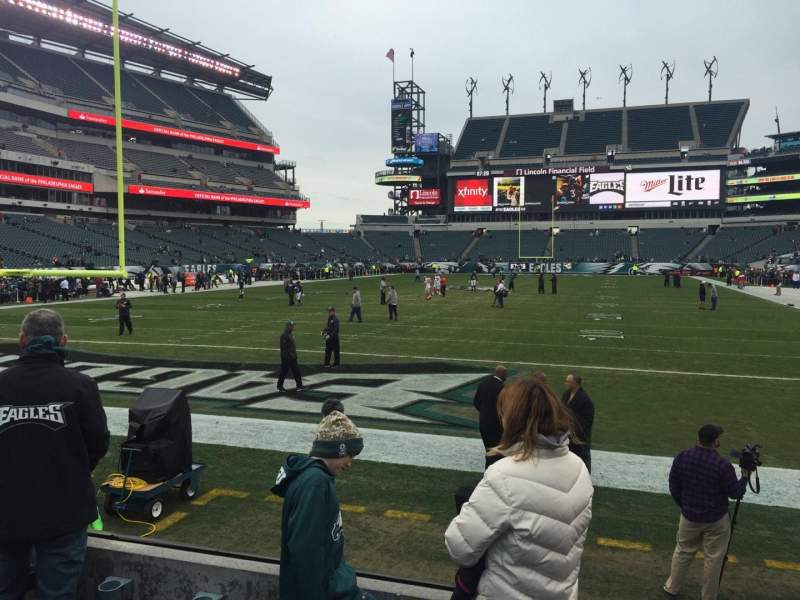 Seating view for Lincoln Financial Field Section 111 Row 4