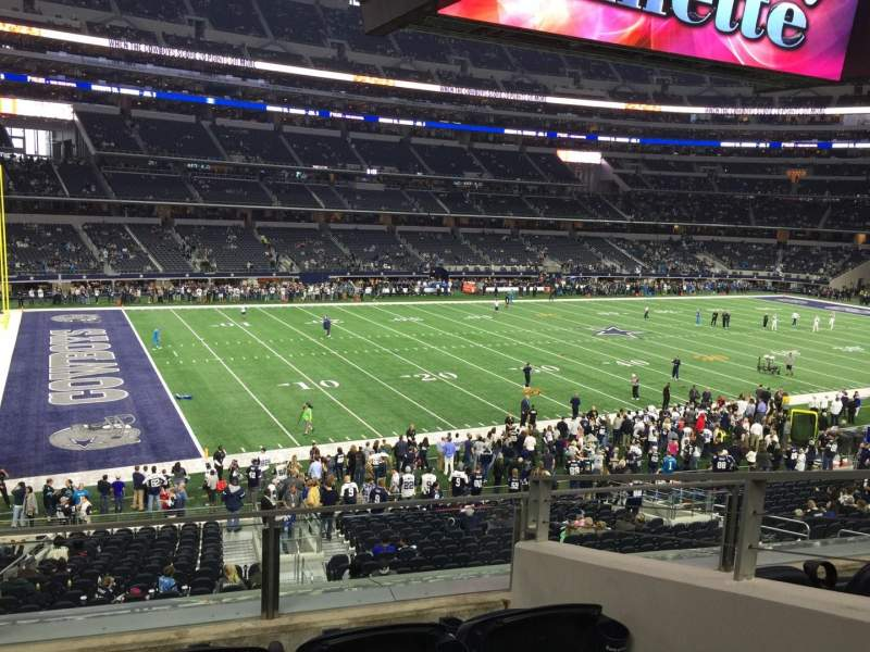 Seating view for AT&T Stadium Section 215 Row 4 Seat 3