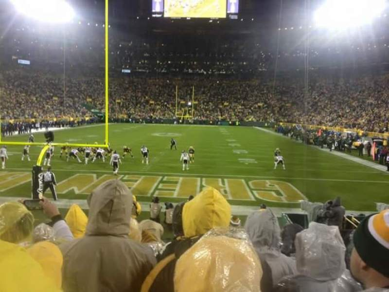 Seating view for Lambeau Field Section 104 Row 12 Seat 12