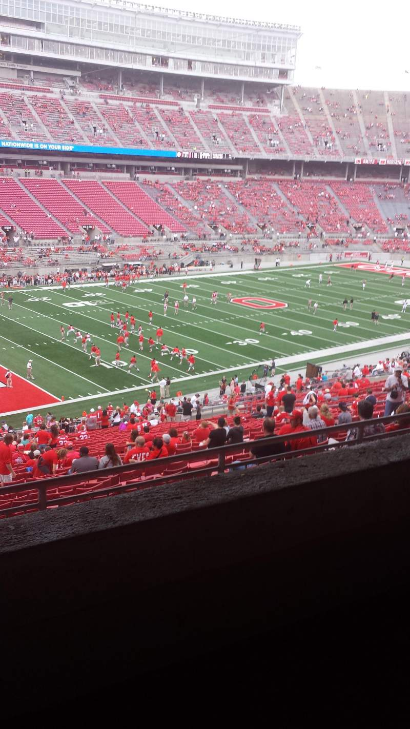 Seating view for Ohio Stadium Section 28B Row 2