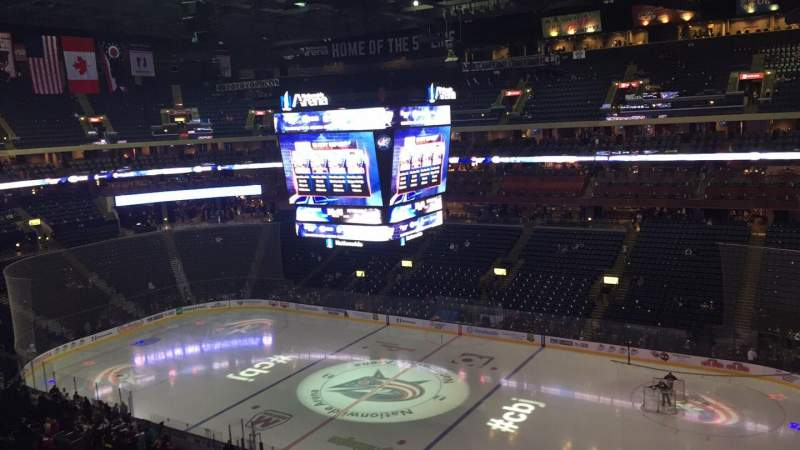 Seating view for Nationwide Arena Section 201 Row B Seat 10