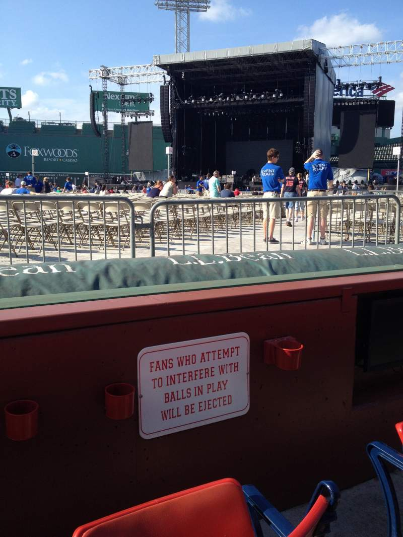Seating view for Fenway Park Section DUGOUT BOX 14 Row 2 Seat 2