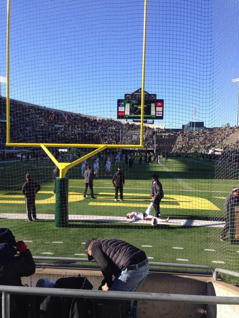 Seating view for Autzen Stadium Section 21 Row 5 Seat 9