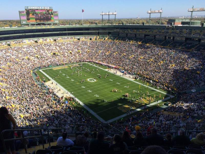Seating view for Lambeau Field Section 738s Row 17 Seat 8