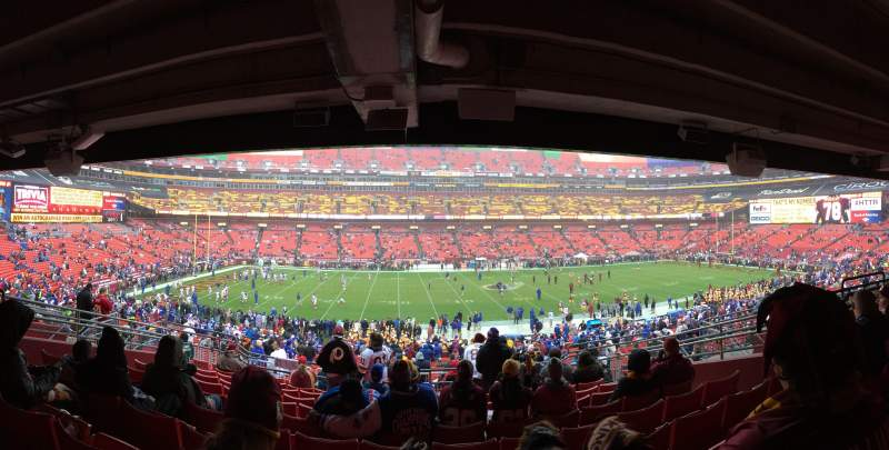 Seating view for FedEx Field Section 223 Row 10 Seat 10