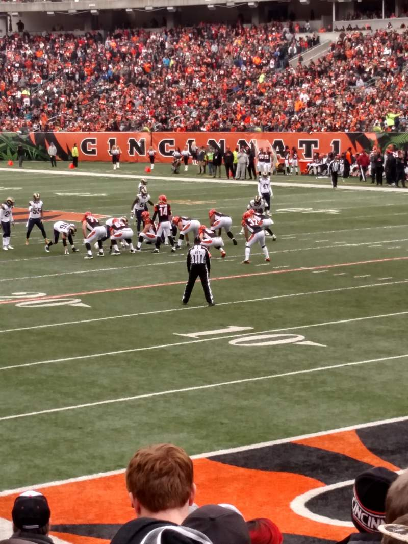 Seating view for Paul Brown Stadium Section 131 Row 12 Seat 3,4