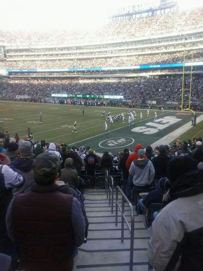 Seating view for MetLife Stadium Section 133 Row 20 Seat 1