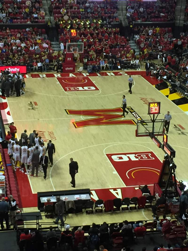 Seating view for Xfinity Center (Maryland) Section 207 Row 4 Seat 21