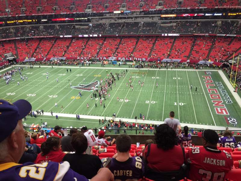 Seating view for Georgia Dome Section 345 Row 9 Seat 14