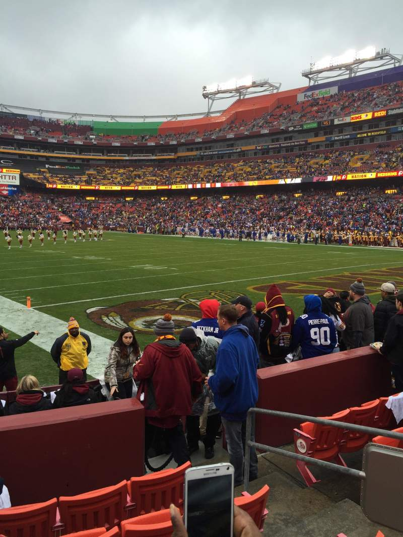 Seating view for Fedex Field Section 135 Row 6 Seat 5