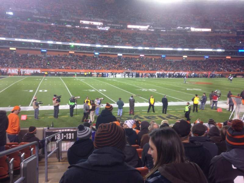 Seating view for FirstEnergy Stadium Section 131 Row 10 Seat 1
