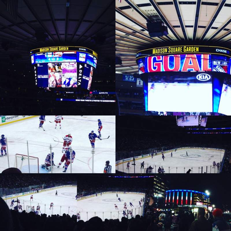 Seating view for Madison Square Garden Section 113 Row 18 Seat 14