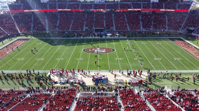 Seating view for Levi's Stadium Section 314 Row 1 Seat 26