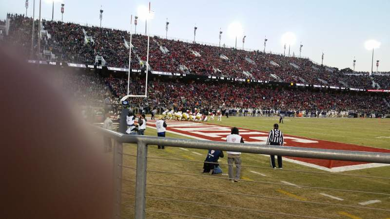 Seating view for Stanford Stadium Section 120 Row A Seat 3