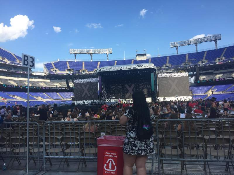 Seating view for M&T Bank Stadium Section C2 Row 2 Seat 6