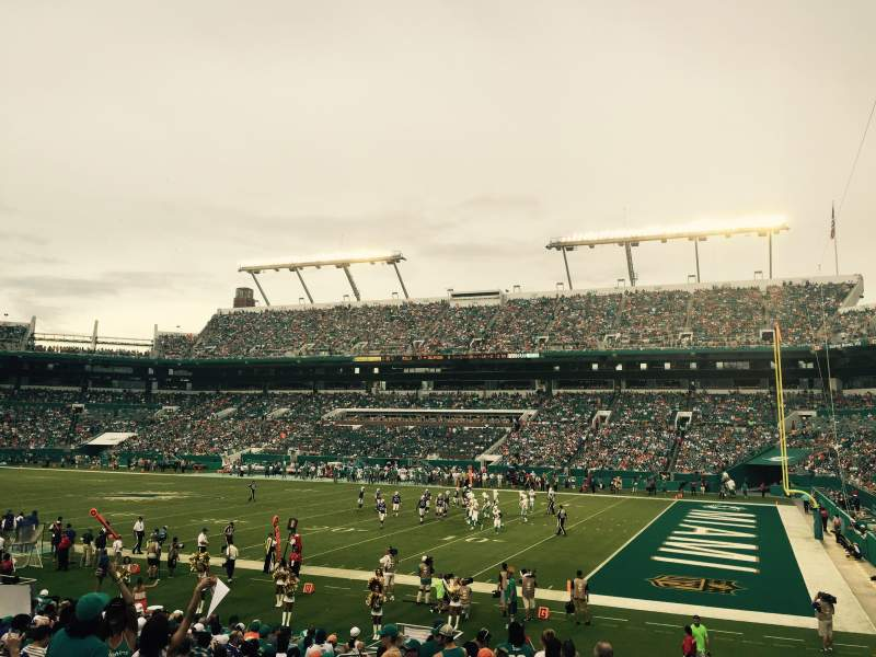 Seating view for Hard Rock Stadium Section 114 Row 19 Seat 15