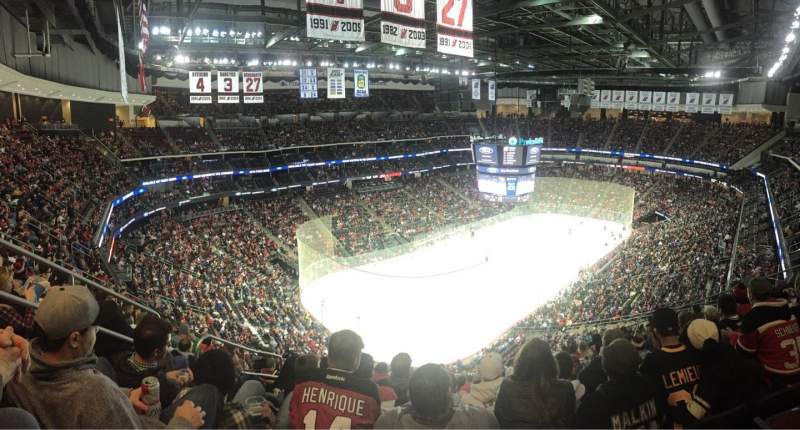 Seating view for Prudential Center Section 107 Row 15