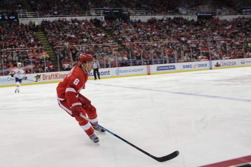 Seating view for Joe Louis Arena Section 123 Row 1 Seat 9