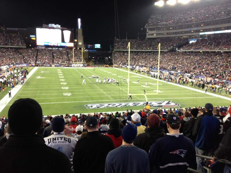 Seating view for Gillette Stadium Section 122 Row 33 Seat 6